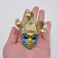 mardi gras wholesale masquerade mini masks fridge magnet sticker triangle