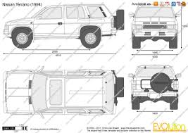 nissan terrano 1990 the blueprints com vector drawing nissan terrano