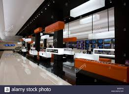 modern design style of an electronic shop inside the shopping centre