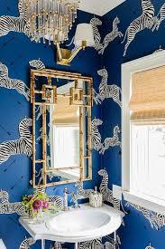 Wallpapered Bathrooms Ideas Best 10 Blue Powder Rooms Ideas On Pinterest Neutral Bathroom