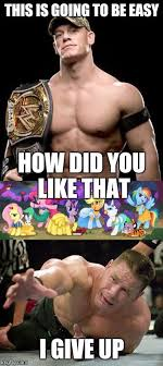 Funny John Cena Memes - mtv presents celebrity death match ep2 john cena vs my little pony