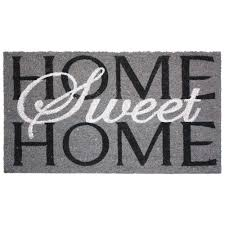 Coco Doormat J U0026 M Home Fashions Home Sweet Home 24 In X 36 In Vinyl Back