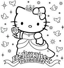Hello Kitty Cake Template Printable Hello Kitty Pictures To Color Princess Stencil Free Coloring Sheets