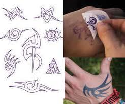 temporary tattoo tribal style black jagua henna pre printed