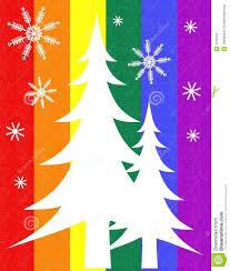 Pine Tree Flag Pride Flag Christmas Tree Card Stock Illustration Image 3706518
