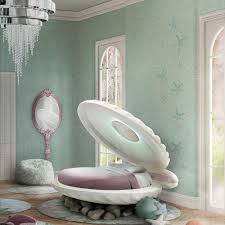 little mermaid shell bed in rainbow finish circu beds princess