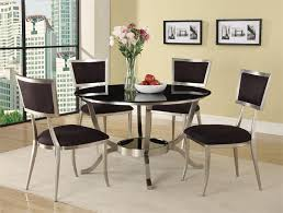 Round Modern Dining Room Sets Best  Glass Table Intended Decor - Black round dining room table