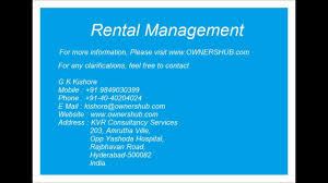 property management services hyderabad youtube