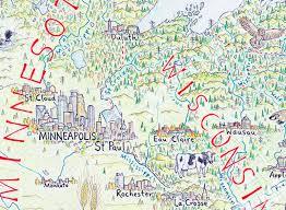 map mn map monday map of america minnesota regional