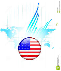 United States World Map by United States Of America Flag Button World Map Royalty Free Stock