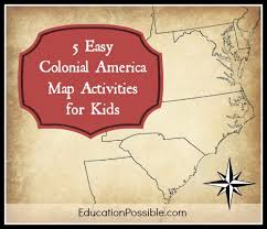 colonial america map easy colonial america map activities for