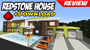 minecraft best modern redstone house download smart house