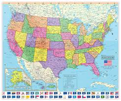 Map Poster Amazon Com Coolowlmaps 2017 United States Wall Map Poster With