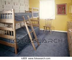 moquette chambre enfant banque de photographies chambre coucher enfant bunkbeds bleu