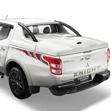 mitsubishi strada 2016 mitsubishi triton knight edition decals indian autos blog