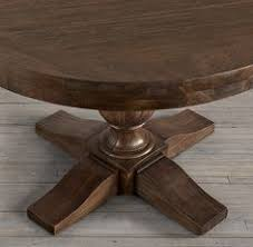 restoration hardware 17 c monastery table 20th c reclaimed pine trestle round dining table restoration