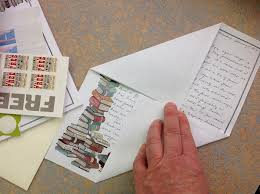 how to mail a letter if you lack an envelope rosemary u0027s blog