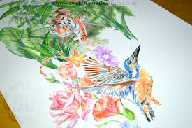 full colour full sleeve nature tattoo design