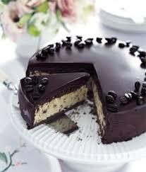 frozen mocha cake with chocolate ganache glaze recipe epicurious com