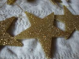 glitter ornaments gold mini tree decor