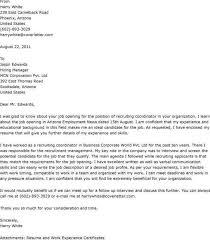 cover letter for recruiter cover letter recruiter resume examples