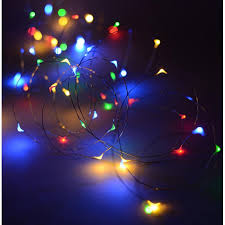 10m 100 led micro bead lights on copper wire multi colour battery