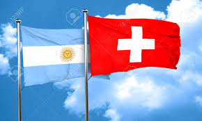 Argentina Flag Photo Argentina Flag With Switzerland Flag 3d Rendering Stock Photo