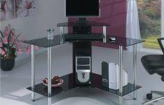 Black Glass Computer Desk L Shaped Black Glass Computer Desk Archives Www Sewcraftyjenn Com