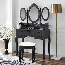 Black Vanity Table Mirrored Dressing Table Ebay