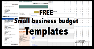 2017 guide to the top free small business budget templates the