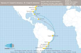 Central And South America Map by Msc And Zim Adjust Their Central And South America Services