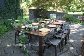 exclusive events table and chair rental