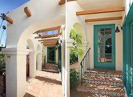 Spanish Style Exterior Paint Colors - eagle rock spanish house love the fun trim color on the doors