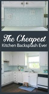 Inexpensive Kitchen Backsplash The Cheapest Diy Backsplash Ever Lovely Etc