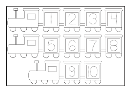 number tracer pages for kids activity shelter
