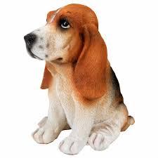 betsy the realistic 17cm sitting basset hound puppy garden