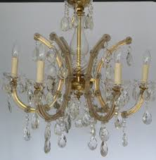 Marie Therese Crystal Chandelier Vintage Arm Marie Therese With Large Clear Lead Drops The