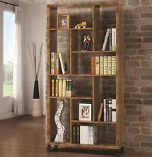 coaster 801236 open bookcase display shelves in antique nutmeg
