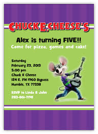 chuck e cheese personalized invitation