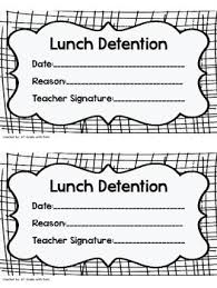 lunch detention slip teacher habits pinterest detention