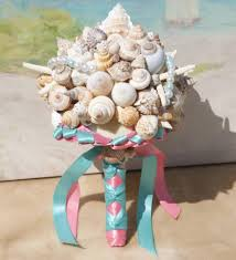 wedding bouquets with seashells seashell wedding bouquet heart of the seashell bouquet for