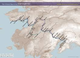 Alaska Air Map by The Iditarod Trail U2013 Iditarod