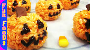 pumpkin rice crispy treats halloween treats youtube