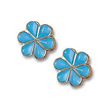 flower earrings turquoise flower earrings earrings jewlery