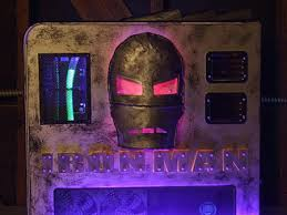purple led lights for computers custom iron man computer lights up includes mask video techeblog