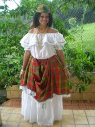caribbean attire woman from dominica dominica lesser antilles caribbean thank
