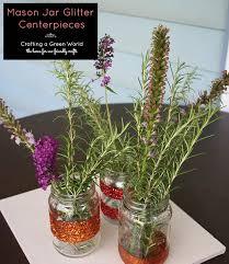 mason jar centerpieces that sparkle