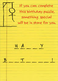 hangman funny humorous birthday card by recycled paper greetings