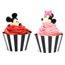 disney mickey u0026 minnie mouse cupcake wrapper u0026 pick kit