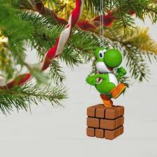 mario wrapping paper mario yoshi ornament keepsake ornaments hallmark
